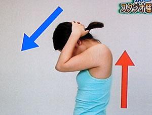 あべこべ体操 背中を反らして頭を下げる